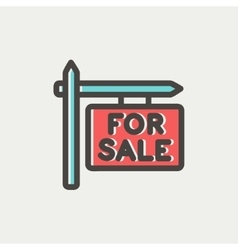 For sale sign thin line icon vector