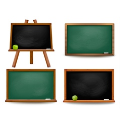 Set of school board blackboards back to school vector