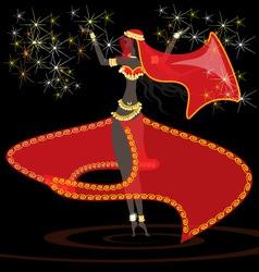 Oriental girl dancer vector