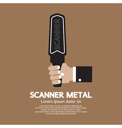 Metal scanner vector