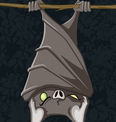 Hanging bat vector