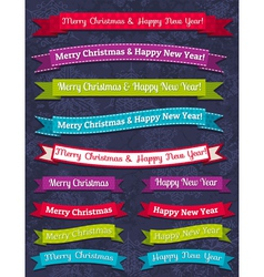 A set of christmas design vector
