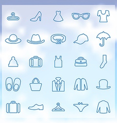 25 clothes icons set vector