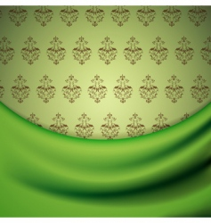 Wallpaper and drapery vector