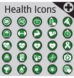 Web site and internet icons medicine fitness vector