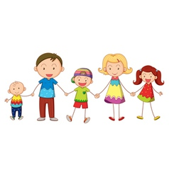 Cartoon family portrait vector