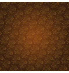 Brown colors flower and plant pattern design vector