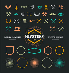 Hipster elements 1 vector
