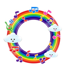 Rainbow music 002 vector