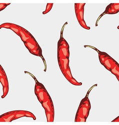 Seamless pattern with hand drawn spicy chili vector