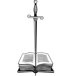 Warlock book vector