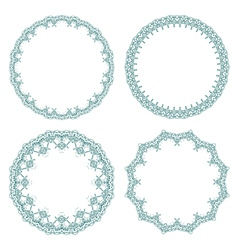 Round decorative frames vector