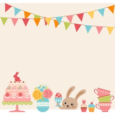 Easter party vector