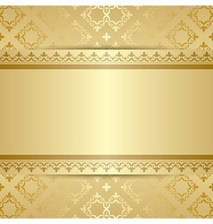 Gold pattern with ornament and gradient vector