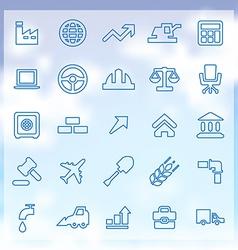 25 economy icons vector