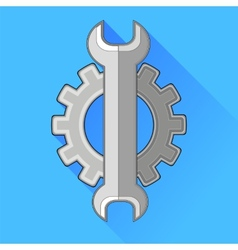 Wrench gear icon vector