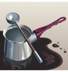 Poured coffee vector