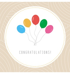Congratulations card1 vector