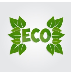 Eco friendly sticker tag or label with green vector
