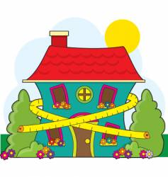 House and tape measure vector