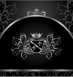 Luxury vintage aluminium frame template - vector