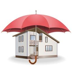 Umbrella and house vector