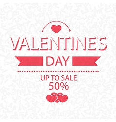 Valentines day up to sale 50 on scribble vector