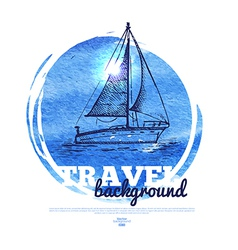 Travel tropical design banner vector