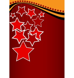 Greeting card with red stars vector