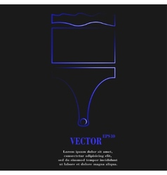 Paint brush icon symbol flat modern web design vector