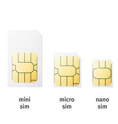 Set of sim cards of different sizesmini micro nano vector