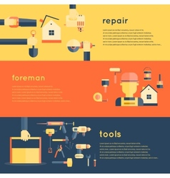 Home repair tools banners vector