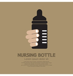 Nursing bottle vector