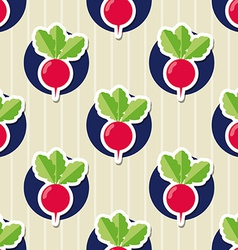 Radish pattern seamless texture with ripe radishes vector