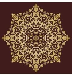 Orient abstract golden ornament vector