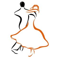 Dancing couple 1 vector