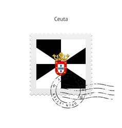 Ceuta flag postage stamp vector