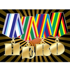 Abstract military awards with hero word vector