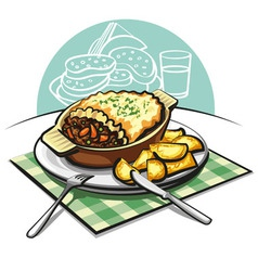 Shepherds meat pie vector