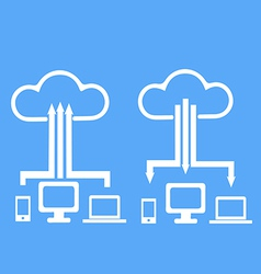 Cloud upload device vector