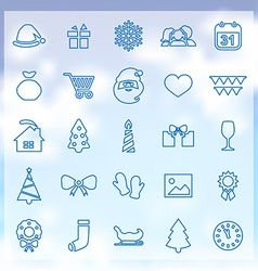 25 new year icons vector