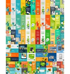 Mega collection of flat web infographic concepts vector