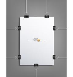 Design element pattern sheet of white paper vector
