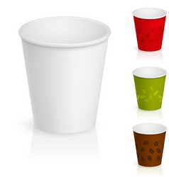 Cardboard coffee cups vector