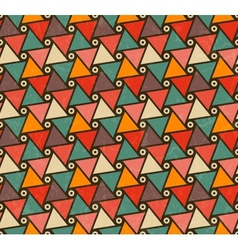 Retro pattern of triangle shapes vector