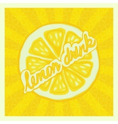 Lemon drink background - vector