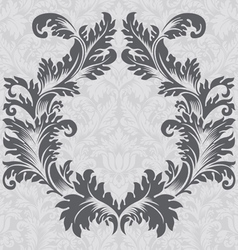 Vintage baroque border frame card cover vector
