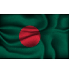 Crumpled flag of bangladesh on a light background vector