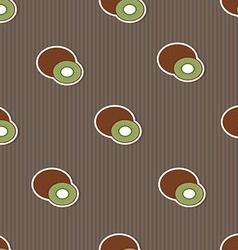 Kiwi pattern seamless texture with ripe kiwi vector