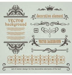 Set of decorative calligraphic elements vector